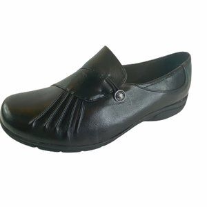 Cloudwalkers Black Flat Loafer Slip On Shoes